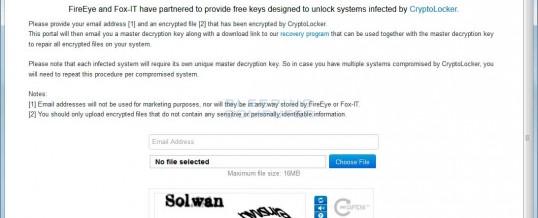 CryptoLocker Keys Available For Free