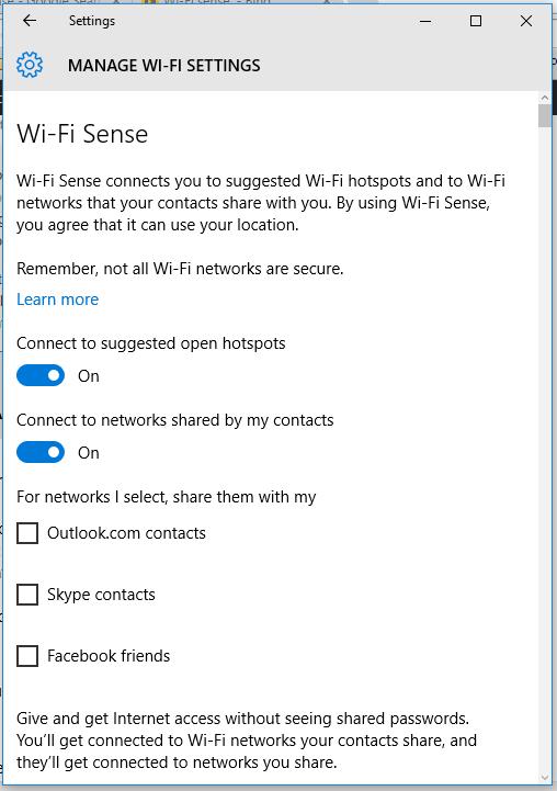 Wifi-sense
