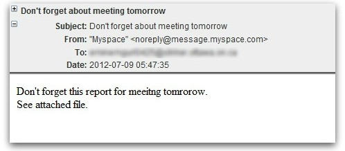 Meeting Request is Malware-Laden Spam