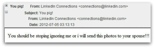 Extortion Exploit in Malware Infected Spam
