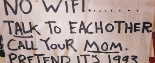 Sunday Funnies: The Good Old Days Part Two–No Wi-Fi